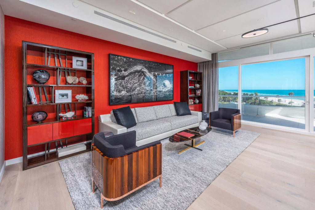 stunning living room in kanye west miami condo