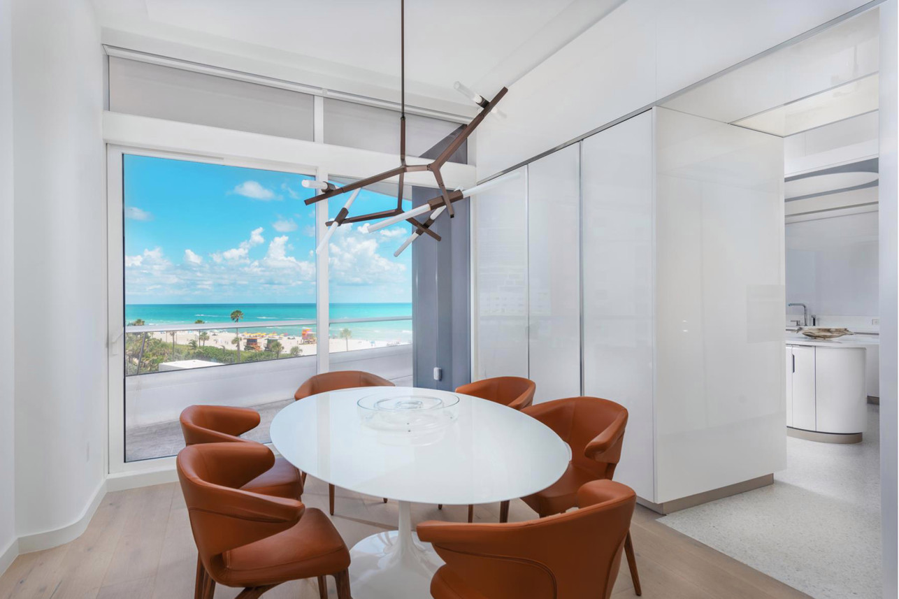 breakfast nook in kanye west miami condo