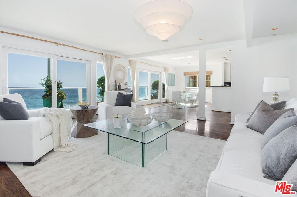 stunning family room with beach views in j-lo and a-rod malibu beach house