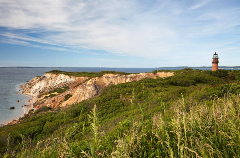 stunning cliff views at Jackie O's Martha's Vineyard home