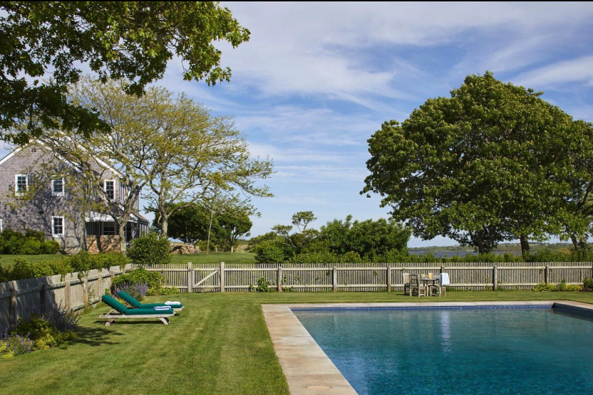 swimming pool of Jackie O's Martha's Vineyard home