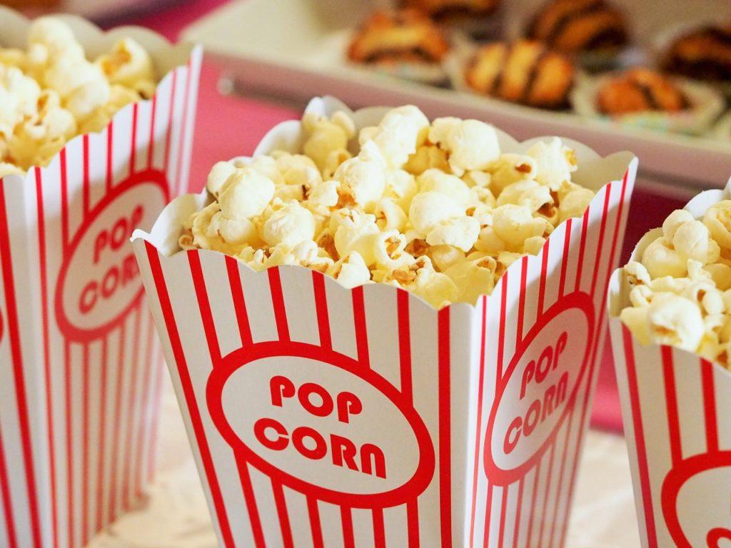 Enjoy popcorn in your luxury movie theater home.