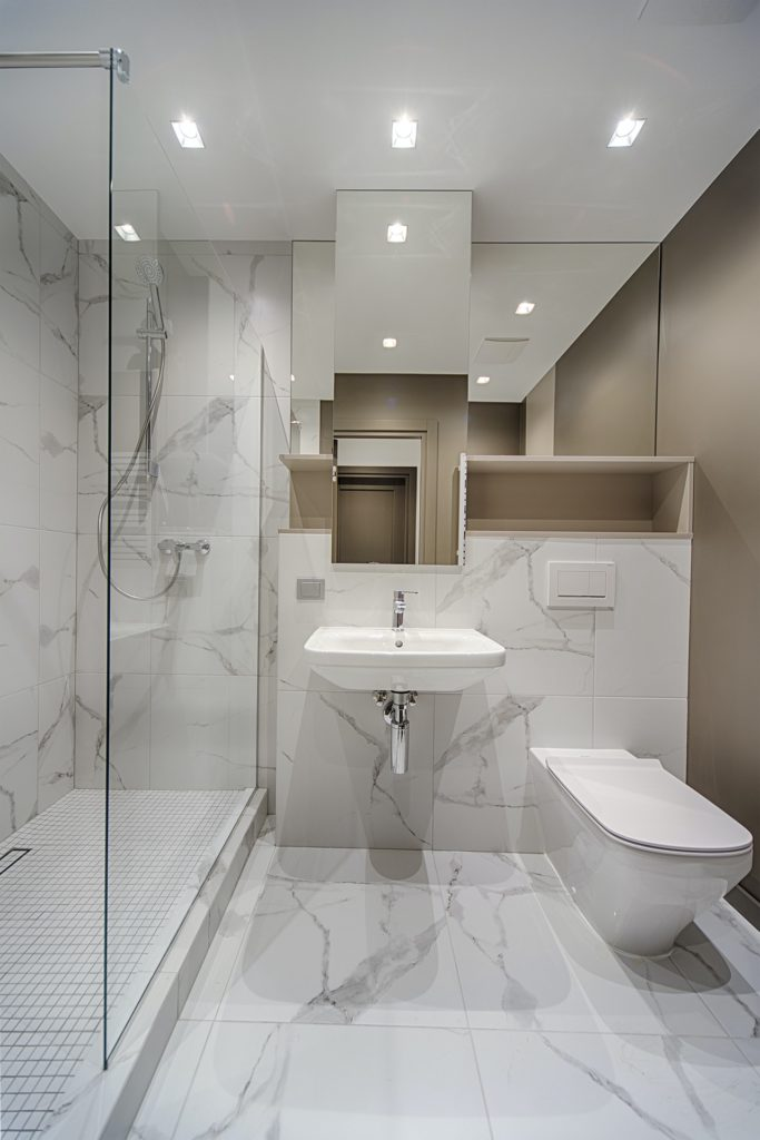 A luxury bathroom adds to the value of your home.